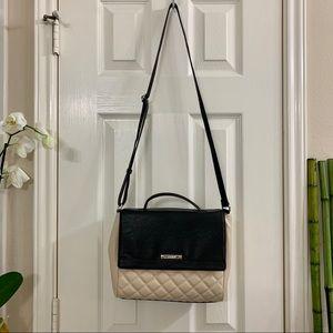 Nine West Black and Cream Crossbody Bag